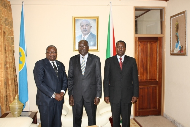 Dr Henry Mwima, LTA Executive Director received in audience by HE Second Vice President of Republic of Burundi