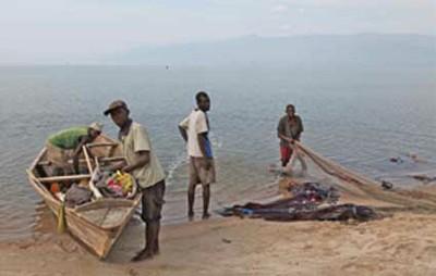 Preparing boat